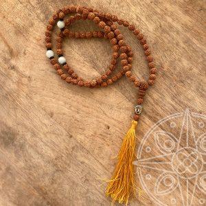 Japamala Nepalí Amarillo Buda para nuevos comienzos, felicidad y sabiduría