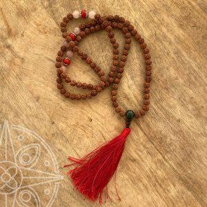 Japamala Nepali rojo para protección y oración.